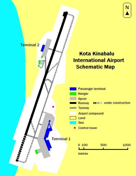 Kota Kinabalu Airport Terminal Map – Kota Kinabalu Airport ...