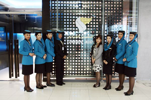 Oman Air lounge at Bangkok airport