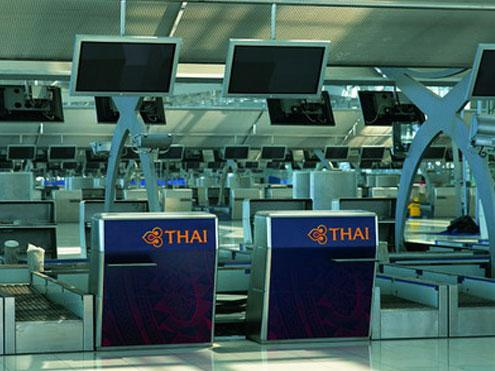 Suvarnabhumi Thai check-in counter