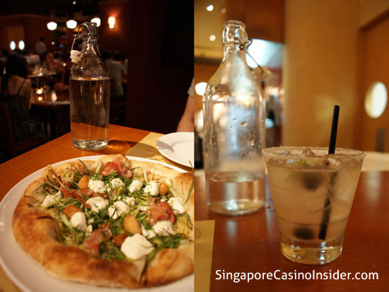 Pizza at Pizzeria Mozza Singapore