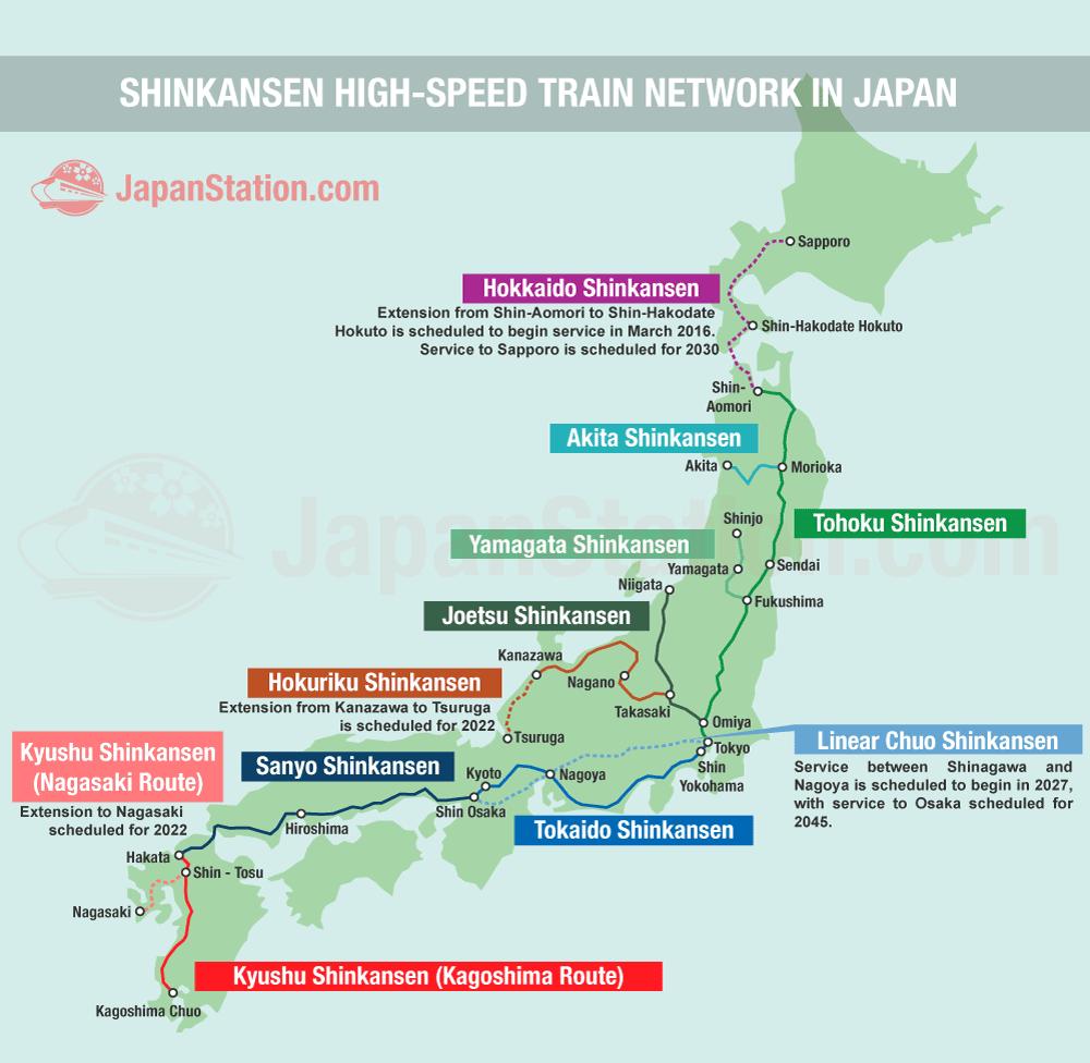 Shinkansen High Speed Train Network In Japan Japan Station
